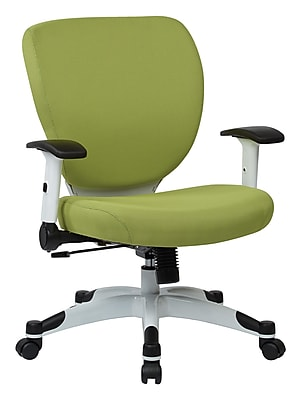 Space Seating Pulsar Mesh Computer and Desk Office Chair, Fixed Arms, Dove Olive (5200W-5879)
