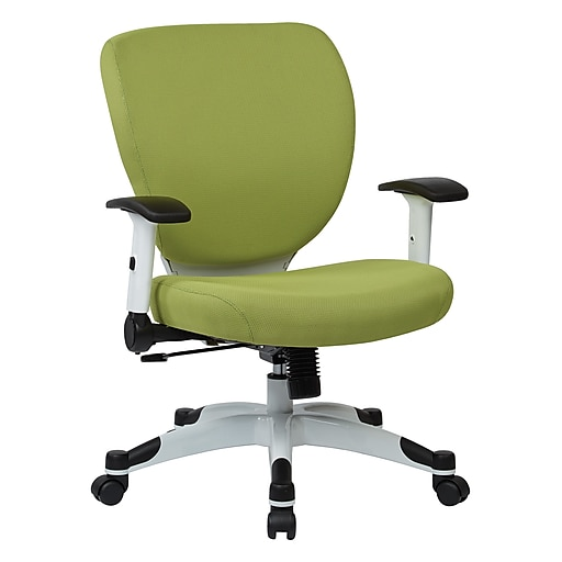 Office Star Space Seating Pulsar White Finish Frame Managers Chair, Dove Olive Fabric