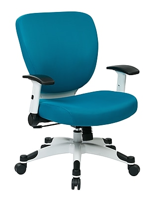 Space Seating Pulsar Mesh Computer and Desk Office Chair, Fixed Arms, Blue Fabric (5200W-7)