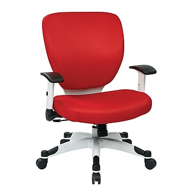 Space Seating Pulsar Mesh Computer and Desk Office Chair, Fixed Arms, Red Fabric (5200W-9)