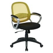 OSP Designs Bridgeport Plastic Computer and Desk Office Chair, Fixed Arms, Yellow (BRGA26-R10)