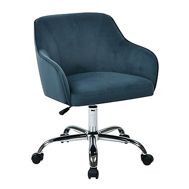 Ave Six Bristol Polyester & Metal Task Chair, Atlantic