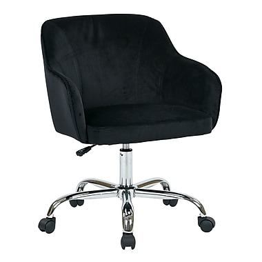 Ave Six Bristol Fabric Computer and Desk Office Chair, Fixed Arms, Black (BRL26-B62)
