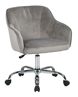 Ave Six Bristol Polyester & Metal Task Chair, Charcoal