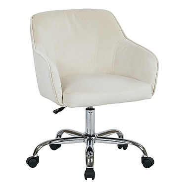Ave Six Bristol Fabric Computer and Desk Office Chair, Fixed Arms, Oyster (BRL26-X12)
