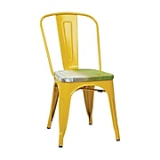 OSP Designs Bristow Side Chairs Metal & Wood, Yellow