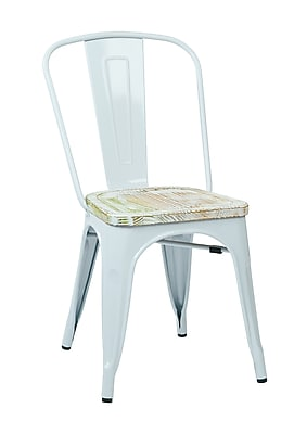 OSP Designs Bristow Metal & Wood Chair, Pine Irish, 4 pk