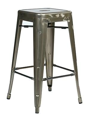 OSP Designs Bristow Metal Barstool, Gun Metal