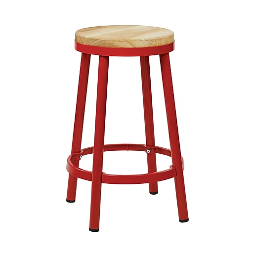 OSP Designs 26.25'' Casual Foot Ring/Bar Bar Stool, Red (BRW3226-9)