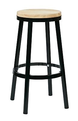 OSP Designs Not available 30.25'' Casual Legged Base Bar Stool, Black (BRW3230-3)