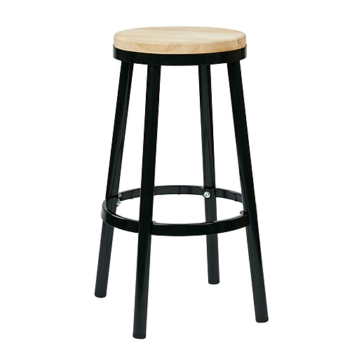 OSP Designs Not available 30.25'' Casual Legged Base Bar Stool, Black (BRW3230-3)