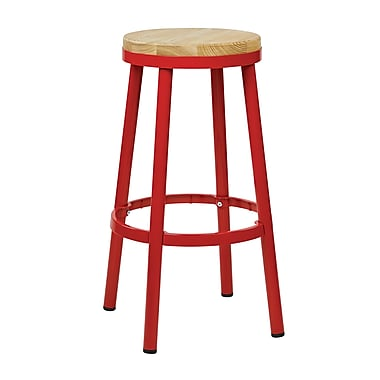 OSP Designs Not available 30.25'' Casual Legged Base Bar Stool, Red (BRW3230-9)