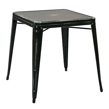 OSP Designs Bristow Metal End Table, Black, Each (BRW432-AB)