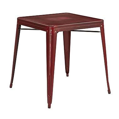 OSP Designs Bristow Metal End Table, Red, Each (BRW432-ARD)