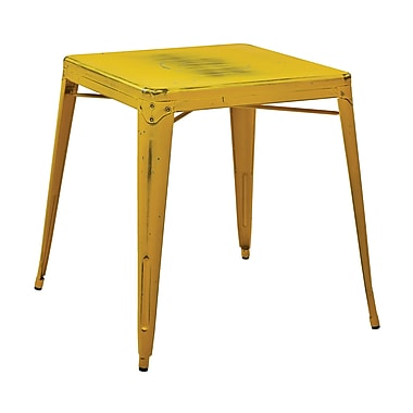 OSP Designs Bristow Metal End Table, Yellow, Each (BRW432-AY)