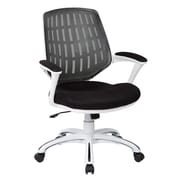 Ave Six Calvin Plastic Computer and Desk Office Chair, Fixed Arms, Black (CLVA26-W3)