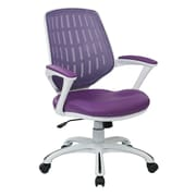 Ave Six Calvin Plastic Computer and Desk Office Chair, Fixed Arms, Purple (CLVA26-W512)
