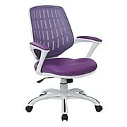 AveSix CALVIN Mesh Computer and Desk Chair, White Frame/Purple (CLVA26-W512)