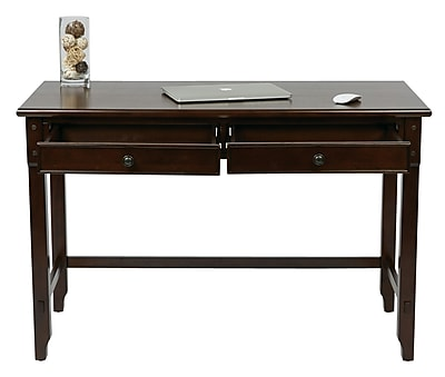OSP Designs Devonshire Wood Desk with Dual Storage Drawers