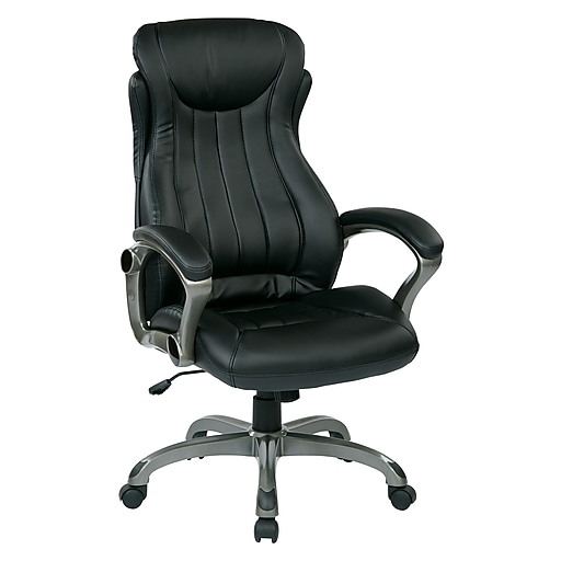 Work Smart Eco Metal & Plastic Executive Chair; Titanium & Black
