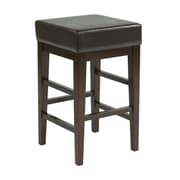 OSP Designs Wood & Polyester Square Stool, Espresso