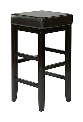 OSP Designs 30'' Casual Foot Ring/Bar Polyurethane Bar Stool, Espresso (ES30VS3ES)
