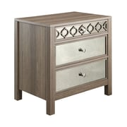 OSP Designs Wood/Veneer Accent Table, Oak, Each (HLN26-GK)