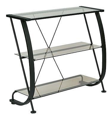 Pro-Line II Horizon 3 Shelf Bookcase Black & Clear 32