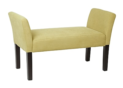 Ave Six Kelsey Upholstered Bench, Shultz Basil Fabric