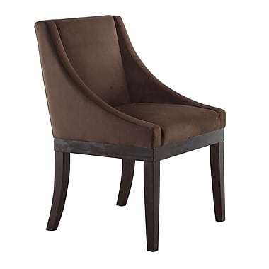 Ave Six Easy Care Wood & Polyester Wingback Chair, Chocolate Velvet