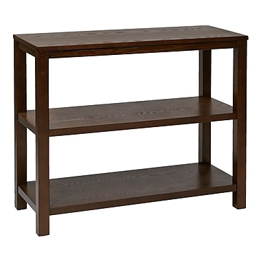 Ave Six Wood Merge Foyer Table, Espresso