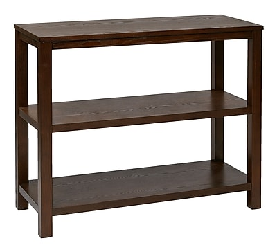 Ave Six Wood Merge Foyer Table, Espresso
