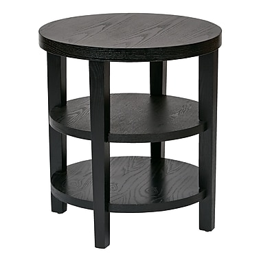 Ave Six Merge Grain Wood/Veneer End Table, Black, Each (MRG09-BK)