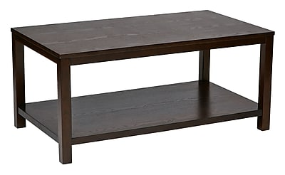 Ave Six Wood Rectangular Cocktail Table, Espresso