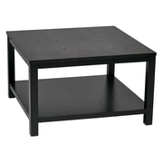 Ave Six Wood Square Coffee Table, Black