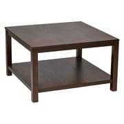Ave Six Wood Square Coffee Table, Espresso