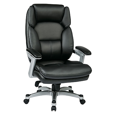 Work Smart Eco Plastic Computer and Desk Office Chair, Fixed Arms, Silver/Black (OPH61606-EC3)