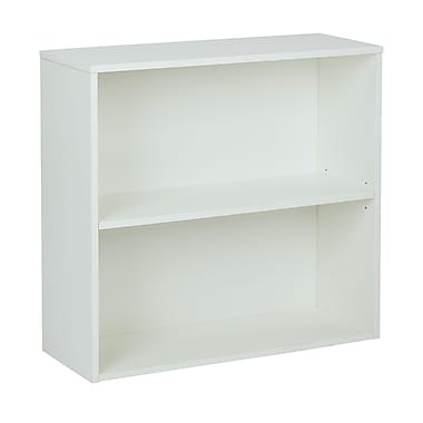 Pro-Line II Prado 31.5'' 2-Shelf Bookcase, White (PRD3230-WH)