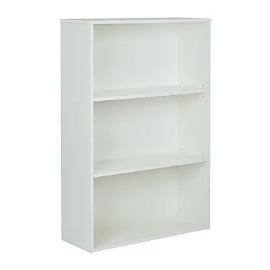 Pro-Line II Prado 3 Shelf Bookcase White 48