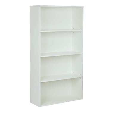 Pro-Line II Prado 31.5'' 4-Shelf Bookcase, White (PRD3260-WH)