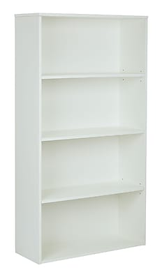 Pro-Line II Prado 4 Shelf Bookcase White 60