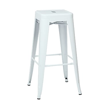 Work Smart Patterson 30.25'' Industrial Legged Base Bar Stool, White (PTR3030A4-11)
