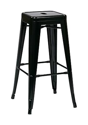 Work Smart Backless 30-Inch Steel Barstool, Black, 2 pk