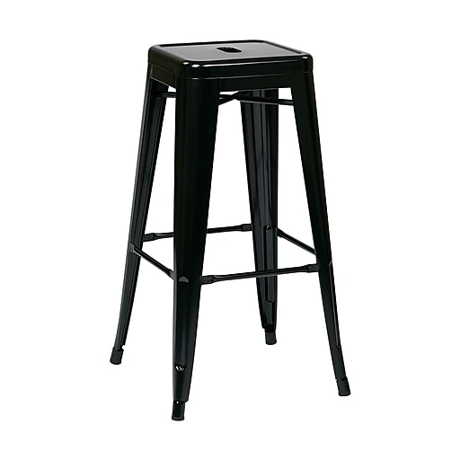 Marvelous Work Smart Backless 30 Inch Steel Barstool Black 2 Pk Pabps2019 Chair Design Images Pabps2019Com