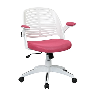 Ave Six Tyler Plastic Conference Office Chair, Adjustable Arms, Pink (TYLA26-W261)