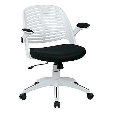 Ave Six Tyler Plastic Conference Office Chair, Adjustable Arms, Black (TYLA26-W3)