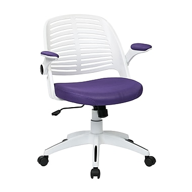 Ave Six Tyler Plastic Conference Office Chair, Adjustable Arms, Purple (TYLA26-W512)