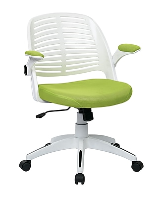 Ave Six Tyler Plastic Conference Office Chair, Adjustable Arms, Green (TYLA26-W6)
