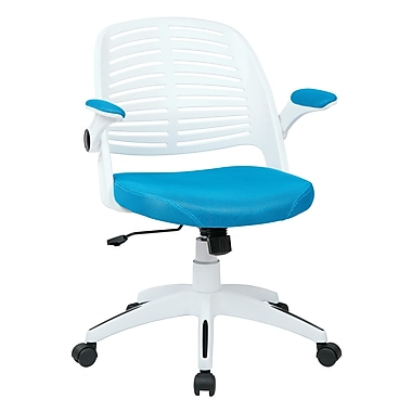 Ave Six Tyler Plastic Conference Office Chair, Adjustable Arms, Blue (TYLA26-W7)