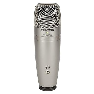 Samson® C01U Pro USB Studio Condenser Microphone, Silver